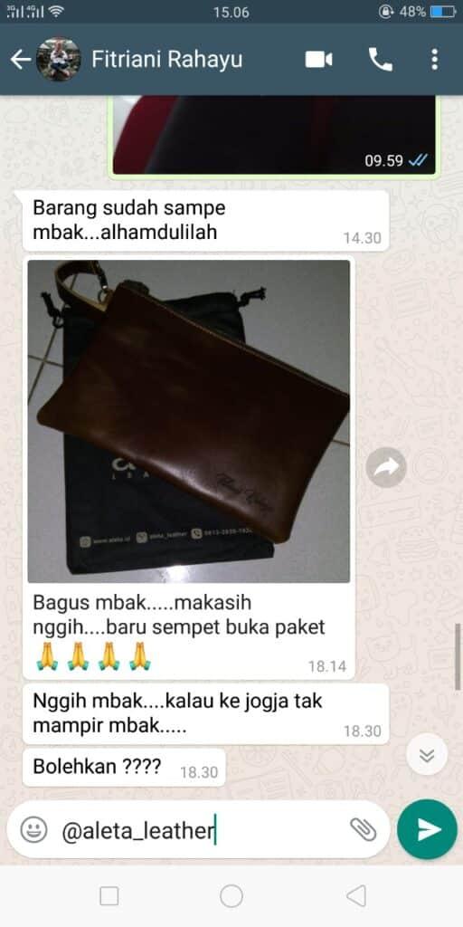 testimoni clutch kulit bank indonesia