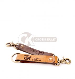 Souvenir Gantungan Kunci Kulit Untuk Event Kantor